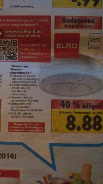 Rauchwarnmelder von ELRO für 8,88 € bei Kaufland, 64331 Weiterstadt, ab 6.11.14