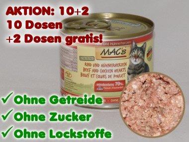 MAC's Katzenfutter in 200g Dosen für 41ct/100g bei Katzenkontor