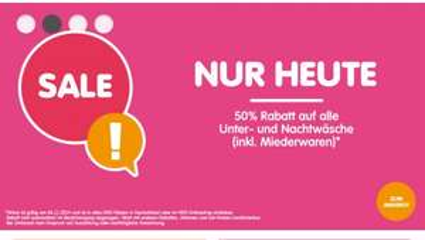 50% NKD [online & offline] 50% auf Wäsche