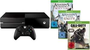Microsoft Xbox One inkl. Call of Duty: Advanced Ware Special Edition, Assassin's Creed Unity und Assassin's Creed Black Flag für 399.-