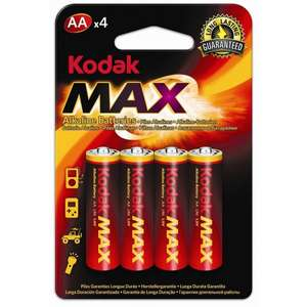 KODAK AA Batterie Alkaline Mignon 1.5V 2850mAh LR6 UM3 OEM° 4er inkl. Versand 1,00€