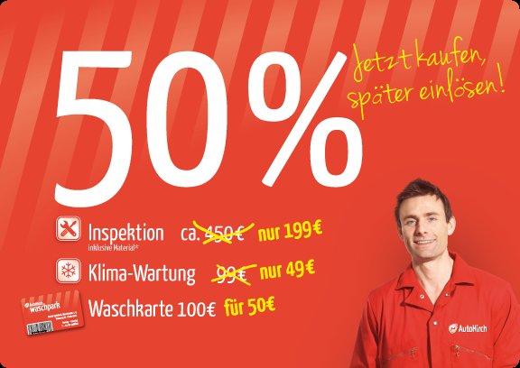 [Lokal Darmstadt/Frankfurt]  Waschkarte im Wert von 100€ für nur 50€ bei Auto Hirch