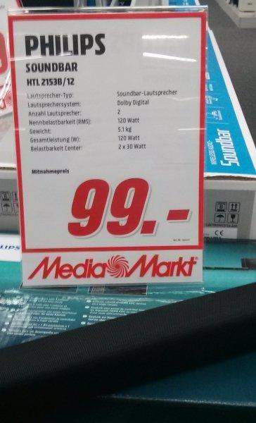 [lokal Kaiserslautern Mediamarkt] Philips HTL2153B Soundbar mit Subwoofer für 99€