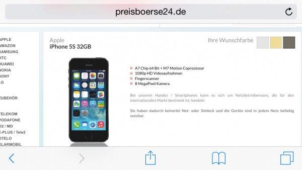 (Preisboerse24) iphone 5s 32 gb schwarz und vodafone smart l für 29,99€ mtl.! Und 99€ Zuzahlung (819€)
