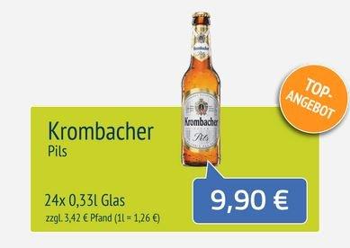 [Lokal Münster] 24x 0,33L Krombacher Pils für 9,90€, 20x 0,5L Club Mate für 10,90€ inkl. Lieferung ab 1 Kiste (auch Sonntags) @flaschenpost.de