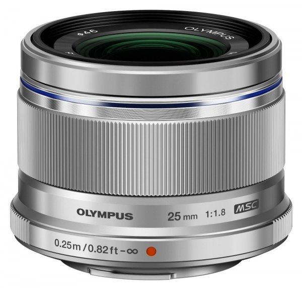 Olympus M.Zuiko Digital ED 25mm f1.8 Objektiv (silber) für 348,63 € @Amazon.co.uk