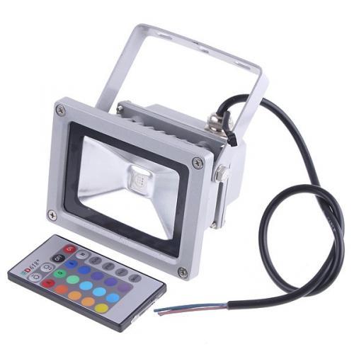 10-Watt-RGB-LED-Scheinwerfer mit Fernbedienung (aus China)