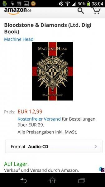 """[Prime] Machine Head - neues Album Bloodstone & Diamonds statt 18,99 nur 12,99! """"Limited Digibook"""""""