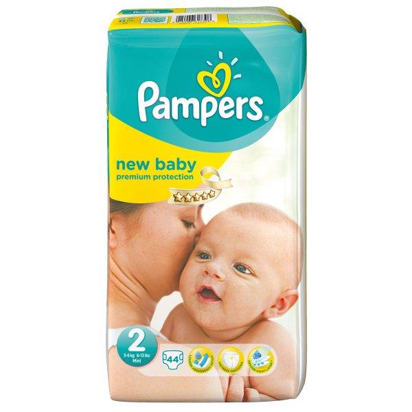 Pampers New Baby Gr. 2 Mini (3-6 kg) 44 Stück Sparpack für nur 6,99 Euro