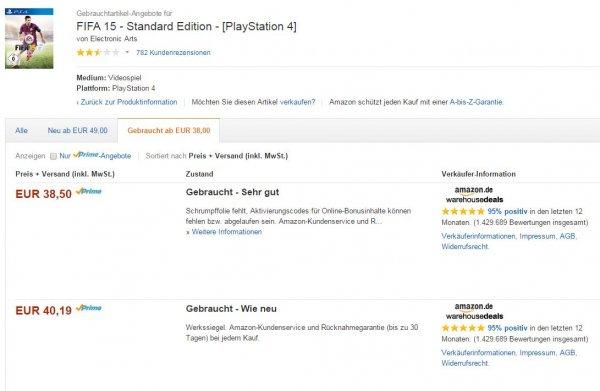 [PS4] FIFA 15 - Amazon Warehouse-Deal