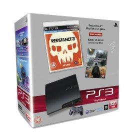 Sony PlayStation 3 Slim 320GB + Resistance 3 + Battle: Los Angeles (Blu-ray) Bundle für 259,73€ inkl. Versand @Amazon.uk