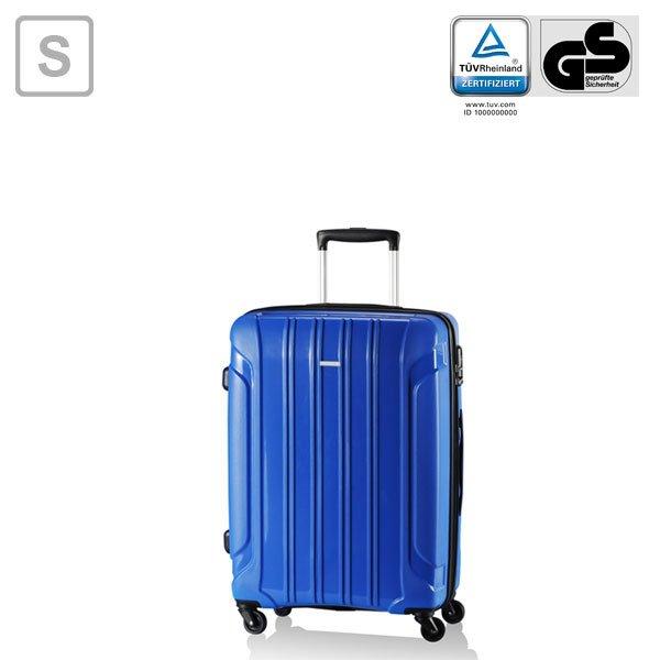 Koffer Trolley Travelite Colosso blau (schwarz) 55 cm 4 Rollen 52,62€ (mit ein wenig Aufwand für 47,62€)