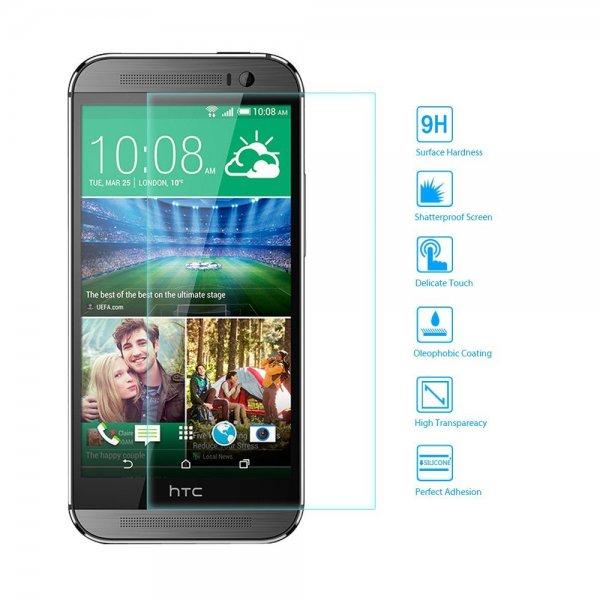 EasyAcc Glasfolie + kostenloses Cases für HTC One M8