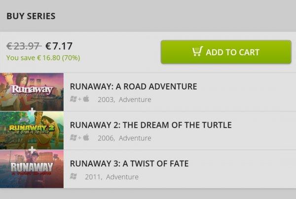 Runaway Adventure Pack @gog (kein steam)