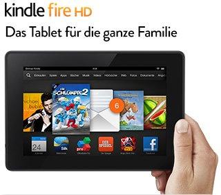 Kindle Fire HD-Tablet 8 GB - Nur für Amazon-Prime Kunden 79,00 €