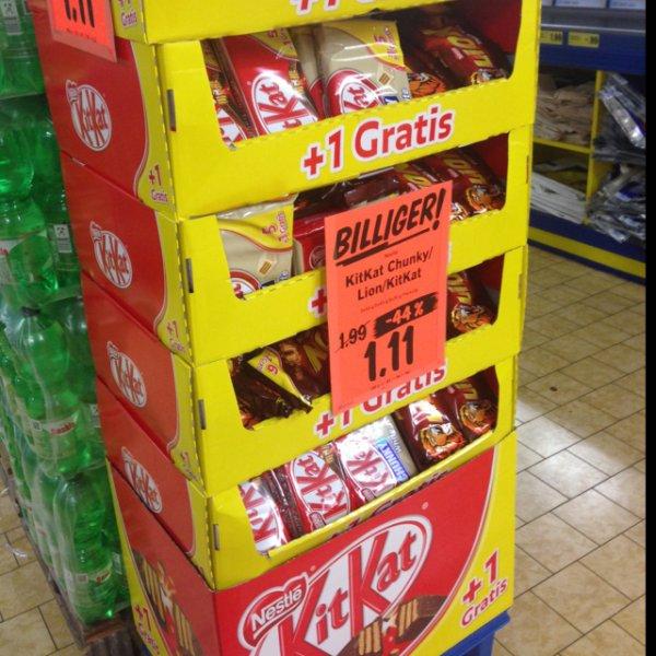 [Lidl] KitKat / KitKat Chunky / Lion 1,11 statt 1,99   44% Rabatt