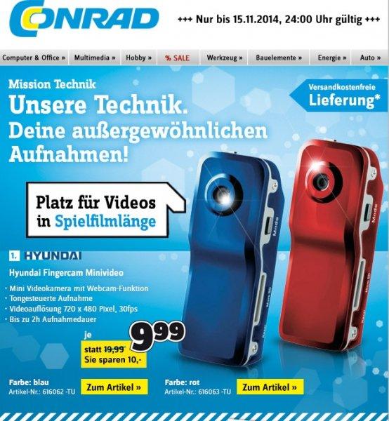 Camcorder Hyundai Fingercam Mini - bei Conrad für 9,99€ bis 15.11.