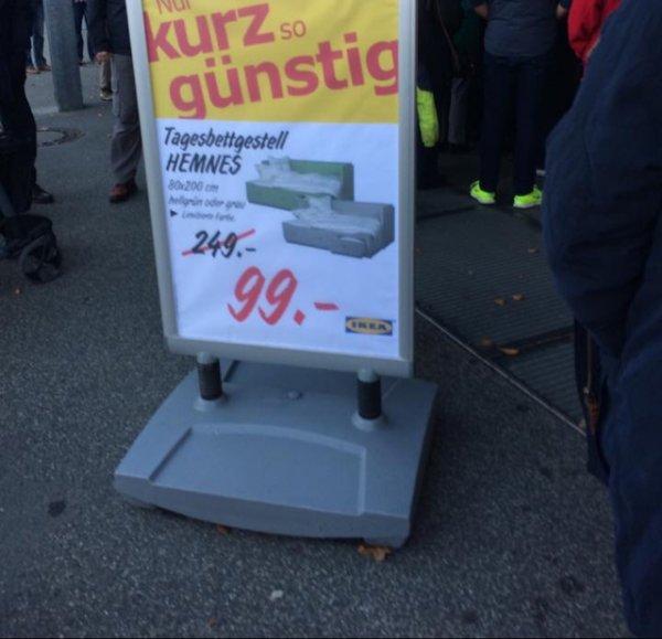 LOKAL IKEA Stuhr/Brinkum Tagesbettgestell Hemnes 99 € statt 249 €
