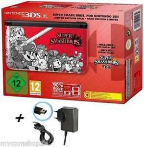 Nintendo 3DS XL -Rot + Super Smash Bros. Limited Edition Inkl. LADEKABEL NEU&OVP + 1 Bonus Game