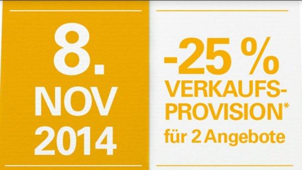 EBay Aktion, November - der Monat der Verkäufer, bis 30. November jeden Tag eine andere Aktion, heute -50% Verkaufsprovision ab 200€ Verkaufspreis