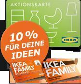 """10% """"Aktionskarte"""" bei IKEA für einen Einkauf ab 150 Euro (IKEA FAMILY Mitglieder)"""
