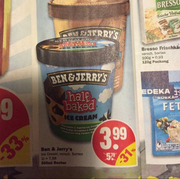 Ben and Jerry's Ice Cream 500ml für 3,99€ @NP
