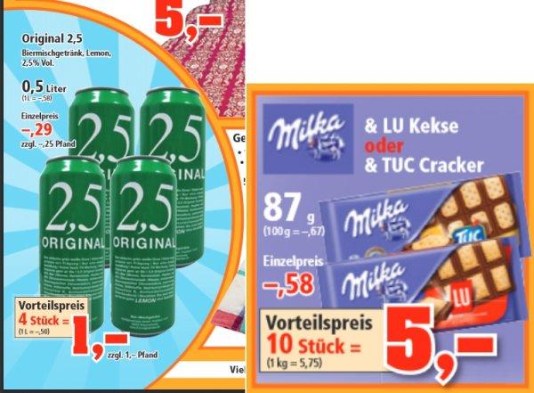 [Thomas Philipps] Original 2,5er 1l/0,50€ und Milka 10 Tafeln/5€