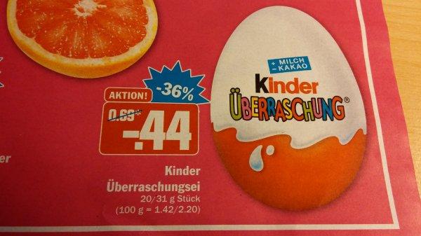 [HIT] Kinder Überraschungsei 0,44€ ab Donnerstag, 13.11.