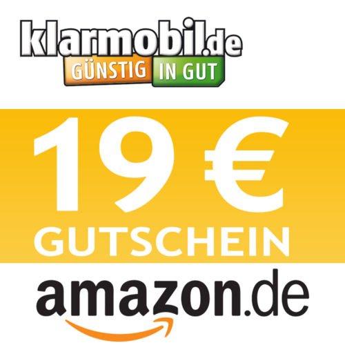 Klarmobil SIM-Karte(PrePaid) + 19,00 € AMAZON Gutschein kostenlos