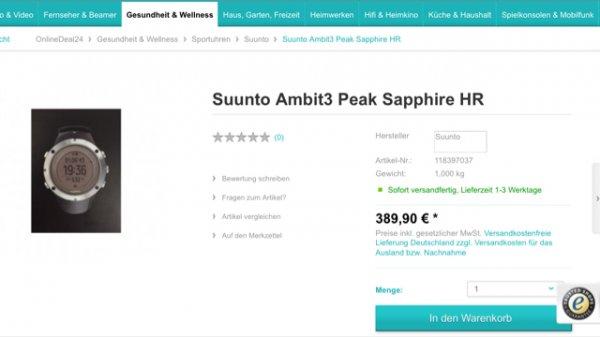 Suunto Ambit3 Sapphire HR