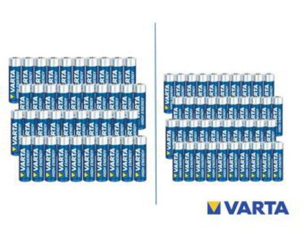 40x Varta High Energy Batterien für 17,90€