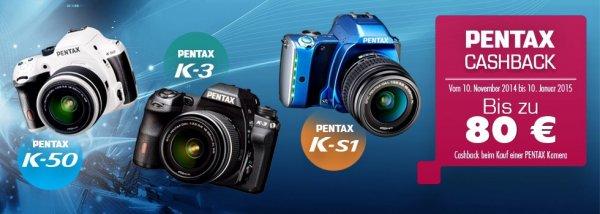 Ab 10. November: Pentax Foto Cashback Aktion für DSLR Modelle K-3, K-50 und K-S1
