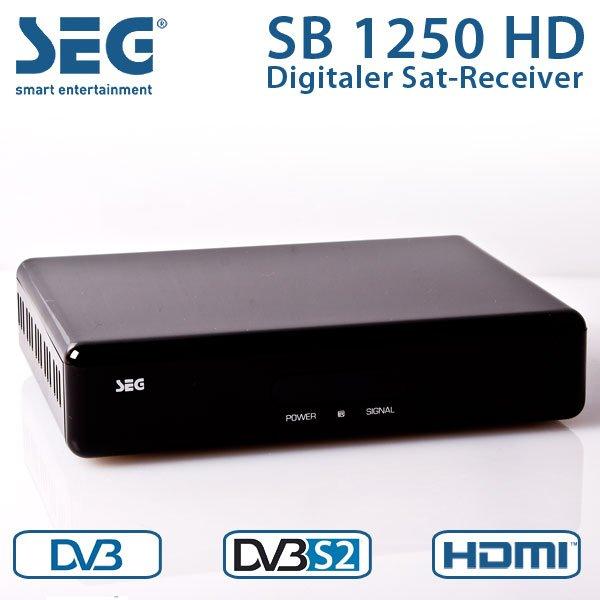 SEG SB 1250 HD Satelitten Receiver HDTV HDMI Sleep Timer DVB-S2  EBAY WOW 22 Euro