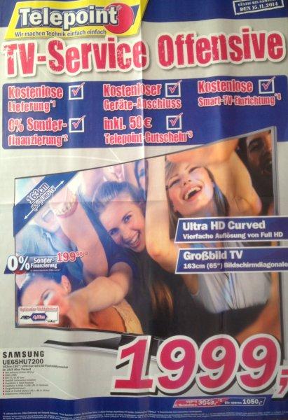 [Lokal Telepoint Borken] Samsung UE65HU7200 1999,- + 50€ Gutschein | Ersparnis: 119€