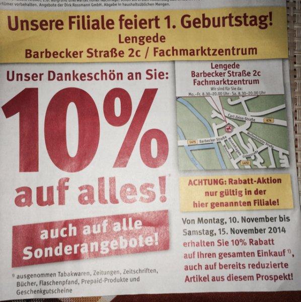 (Lokal) 10% Rossmann Lengede