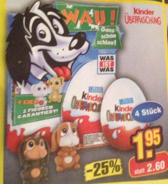 [Netto Ohne Hund] Ü-Ei / Kinderüberraschung 4 Stück - 1,95 | 0,49€ pro Ei | 2 Figuren | Nur am Sa. 15.11.14