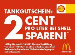 Bei McDonald´s Essen gehen und 2 Cent pro Liter bei Shell sparen !!!
