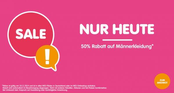 NKD 50% auf Herrenbekleidung