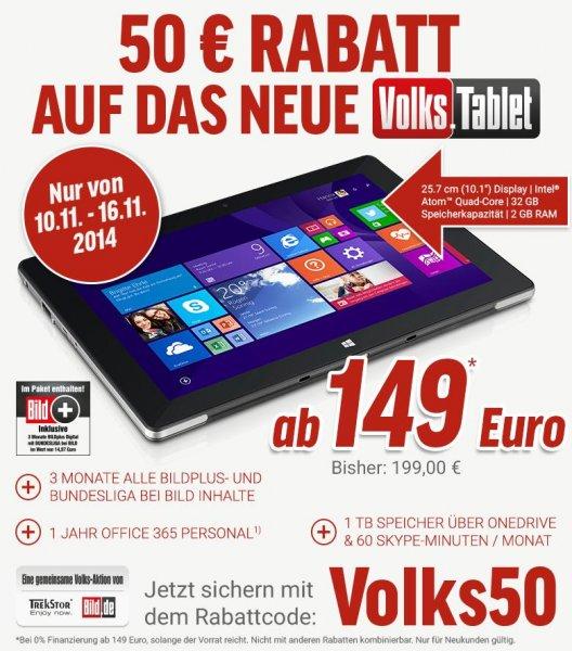 TrekStor SurfTab wintron 10.1 für 149€ bei Notebooksbilliger.de