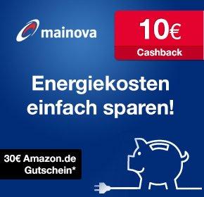 [Qipu] Mainova: 10€ Cashback+30€ Amazon.de-Gutschein für Strom oder Erdgas Direkt Vertrag