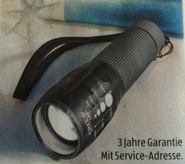 [Aldi Süd]Cree LED Taschenlampe 5 Watt