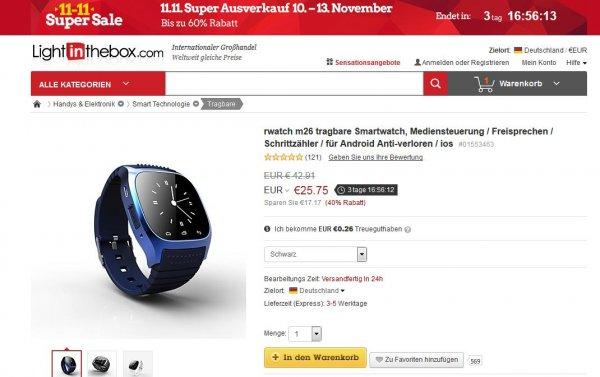 Smartwatch RWATCH M26