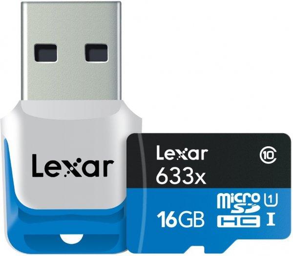 LEXAR Micro SDHC-Card 16GB UHS-1 (633x) mit USB3 Kartenleser inkl. Vsk für ca. 12,73 € > [zavvi.com]