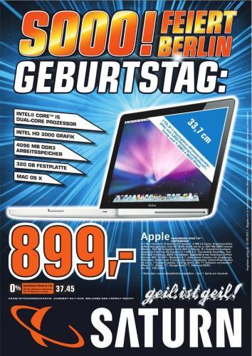 (Berlin) MacBook Pro für 899€ bei Saturn