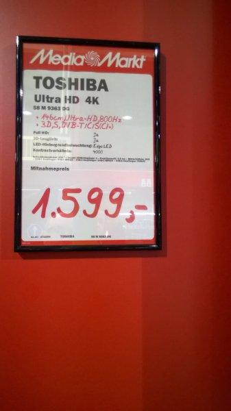 Lokal Media Markt Krefeld 58 Zoll Toshiba Uhd TV (58M9363 DG)