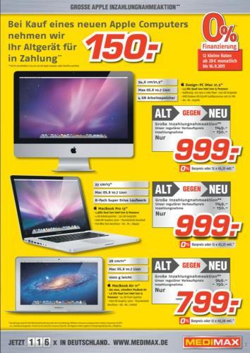 (Berlin) Medi Max - iMac, MacBook Pro, MacBook Air - Alt gegen Neu