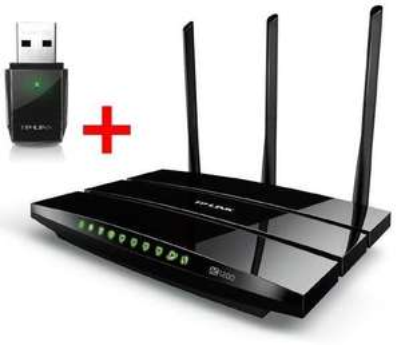 Bundle TP-LINK ARCHER C5 AC1200 WLAN-ac Router + AC600 Archer T2U WLAN-ac USB Stick