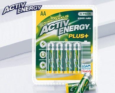 (Aldi Süd) ACTIV ENERGY® NiMH-Hochleistungsakkus 3,99 €