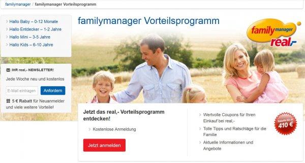 [REAL Familymanager] Jetzt anmelden und Willkommensgeschenk + extra PayBack Punkte abstauben!