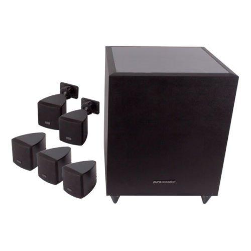 Pure Acoustics 5.1 Heimkino Set schwarz aktiver Subwoofer 270 Watt RMS